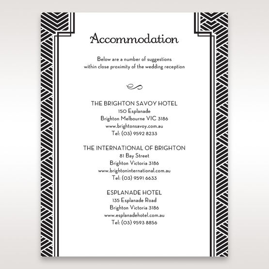 Yellow/Gold Dazzling Gold Foil Stamped - Accommodation - Wedding Stationery - 93