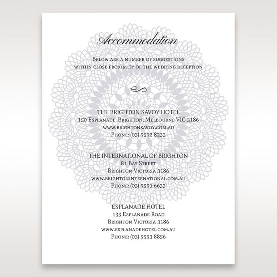 Blue  Blue Elegance, Floral Couture - Accommodation - Wedding Stationery - 72