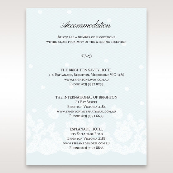 Silver/Gray   Floral Couture in Blue & White - Accommodation - Wedding Stationery - 81
