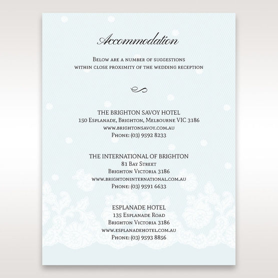 Brown   Floral Couture in Blue & White - Accommodation - Wedding Stationery - 82
