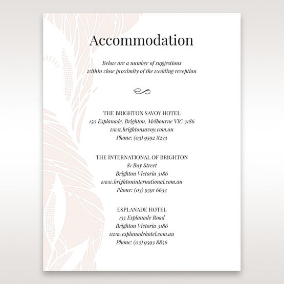 Orange  Mystic Forest - Accommodation - Wedding Stationery - 90