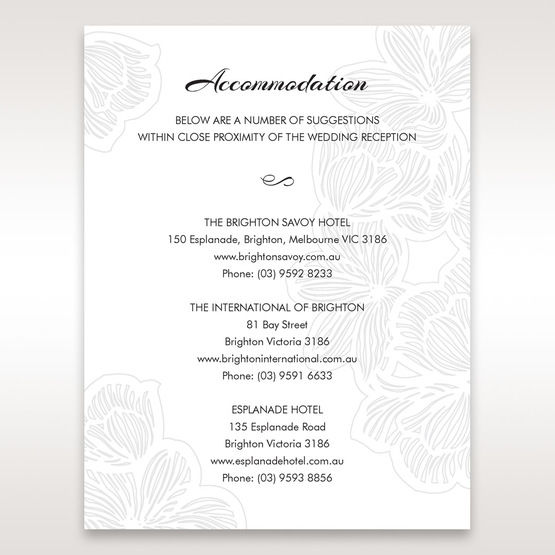 Orange  Laser Cut Flower Frame  - Accommodation - Wedding Stationery - 4
