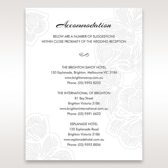 White  Laser Cut Flower Frame - Accommodation - Wedding Stationery - 6