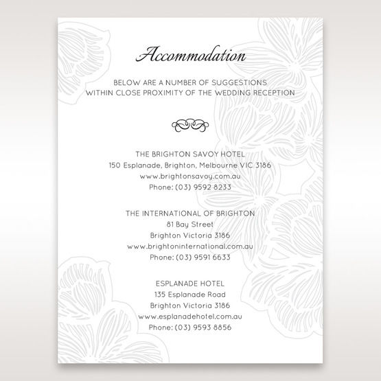 White Laser Cut Floral Lace â…¡ - Accommodation - Wedding Stationery - 12