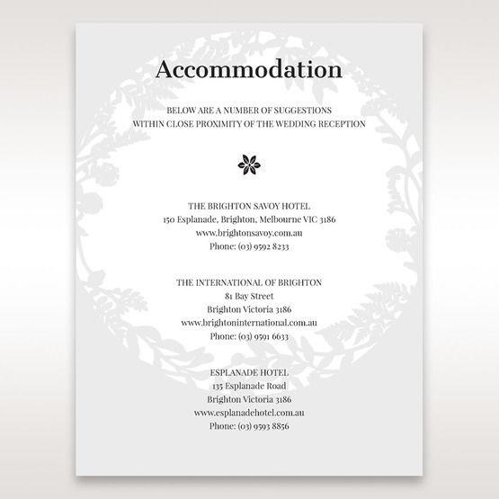 White Enchanted Forest I Laser Cut P - Accommodation - Wedding Stationery - 25