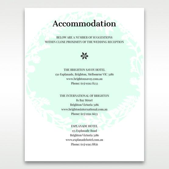 White Enchanted Forest II Laser Cut P - Accommodation - Wedding Stationery - 28