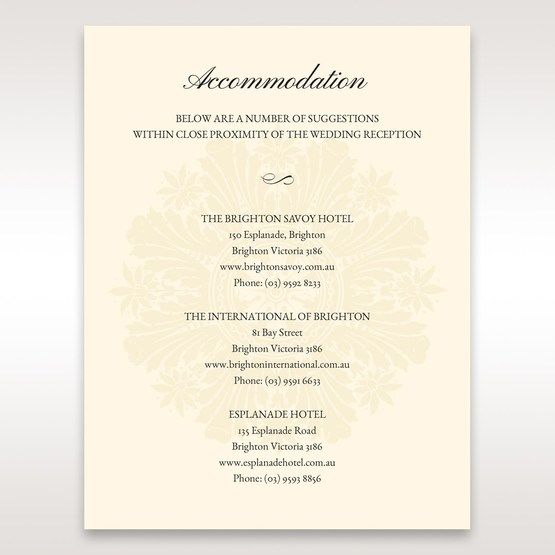 Brown Framed Classic Couture - Accommodation - Wedding Stationery - 50