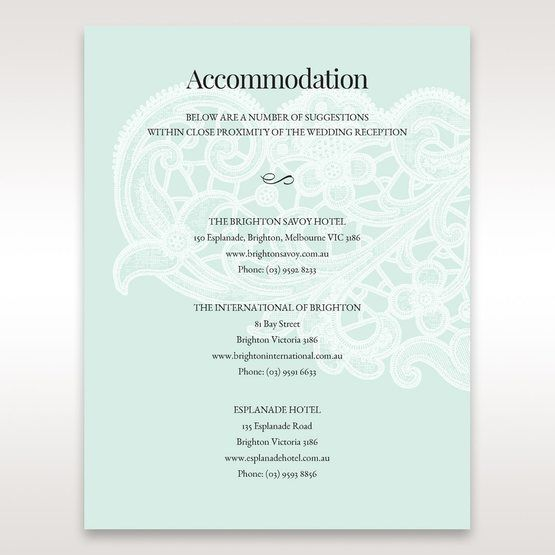 Blue Gatefold Floral Laser Cut - Accommodation - Wedding Stationery - 14