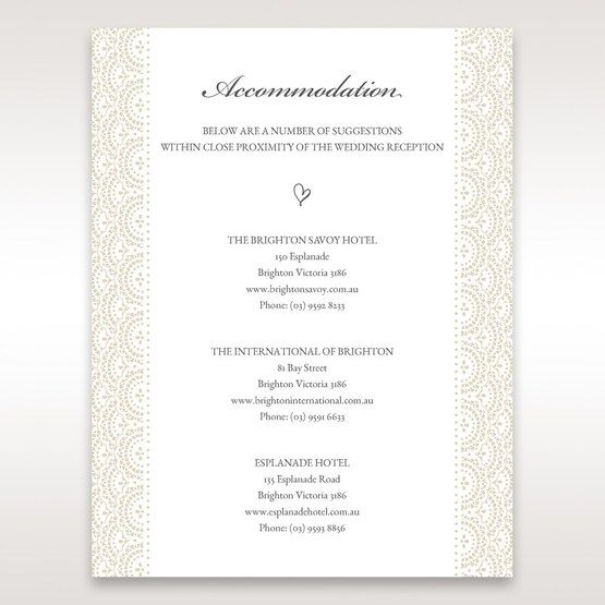 White Amabilis - Accommodation - Wedding Stationery - 57