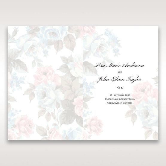 Blue Magical Flower Garden - Order of Service - Wedding Stationery - 72