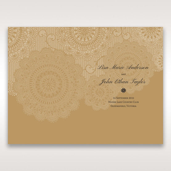Yellow/Gold Tri-Fold Laser Cut Gold - Order of Service - Wedding Stationery - 74