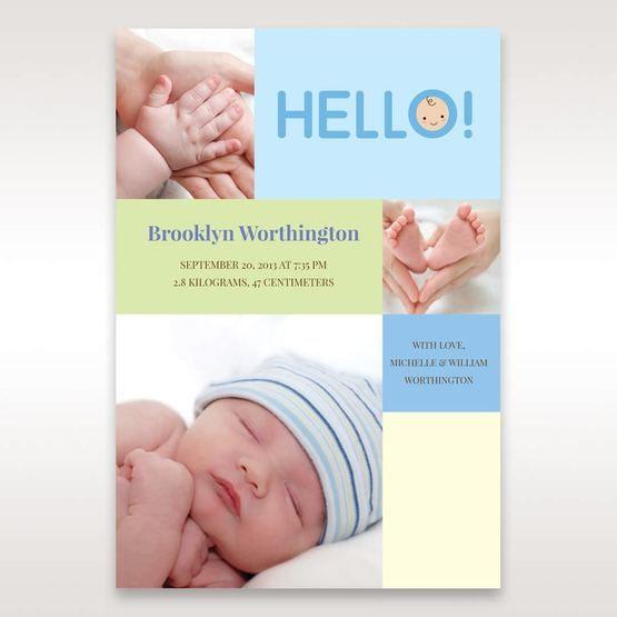 Blue Photo Trio I - Birth Announcement - 87