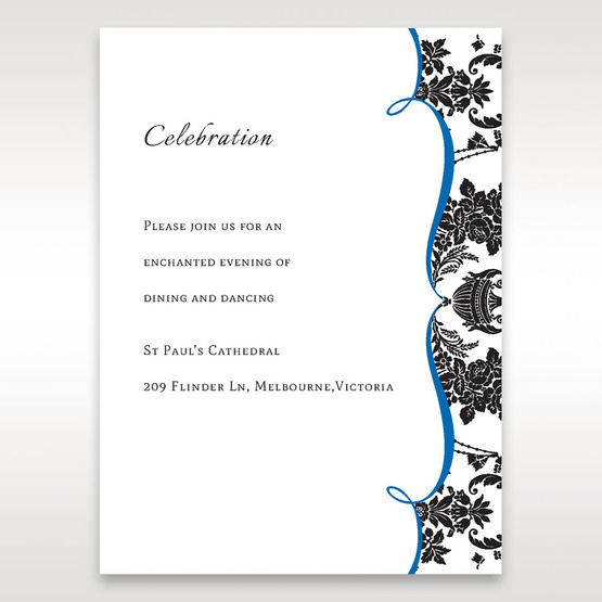 Black Black Grandeur - Reception Cards - Wedding Stationery - 6