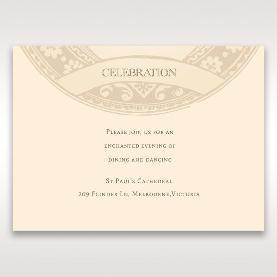 Yellow/Gold Around the Globe with Love - Reception Cards - Wedding Stationery - 75