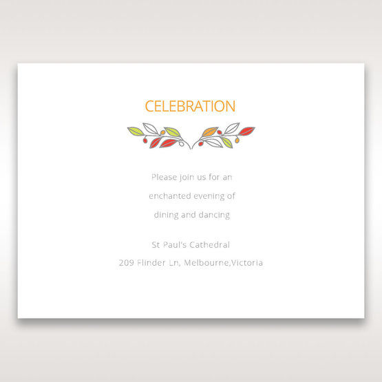 White Wild Floral Wreath - Reception Cards - Wedding Stationery - 48