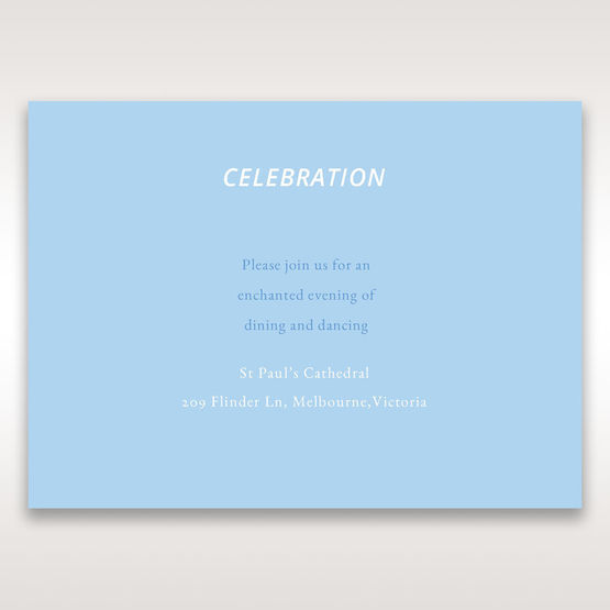 Blue Side by Side - Reception Cards - Wedding Stationery - 27