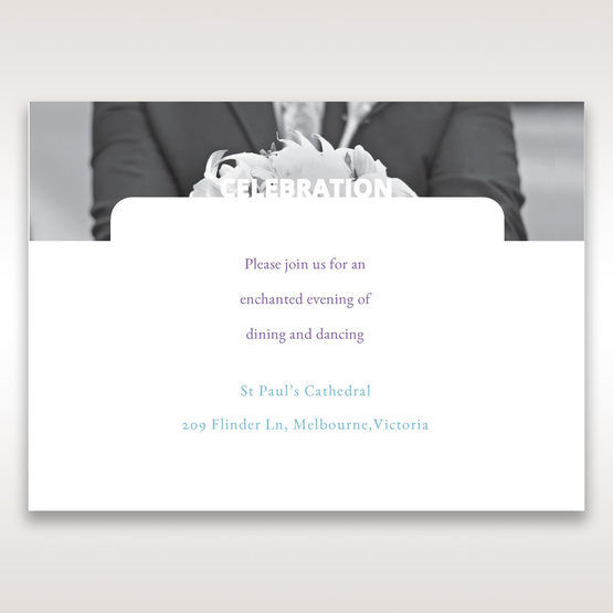 Purple Affair of the Heart - Reception Cards - Wedding Stationery - 76