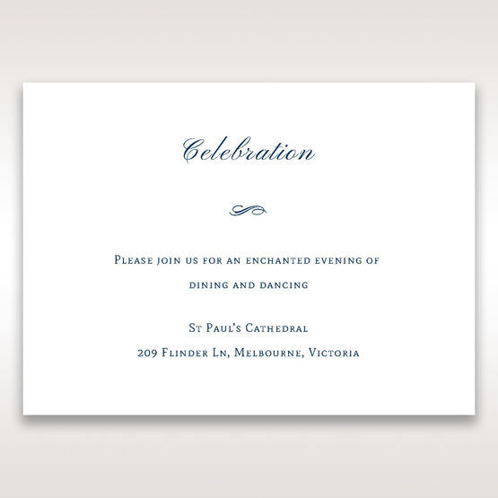 Blue Urban Chandelier - Reception Cards - Wedding Stationery - 73