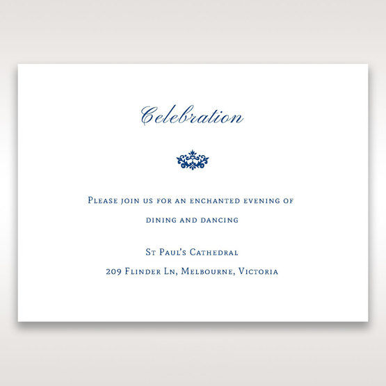 Blue Jeweled Borders - Reception Cards - Wedding Stationery - 72