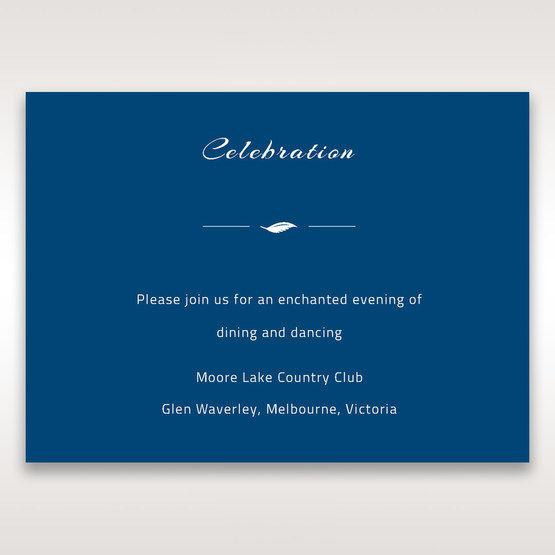 Blue Flower Sash I Laser Cut  - Reception Cards - Wedding Stationery - 93