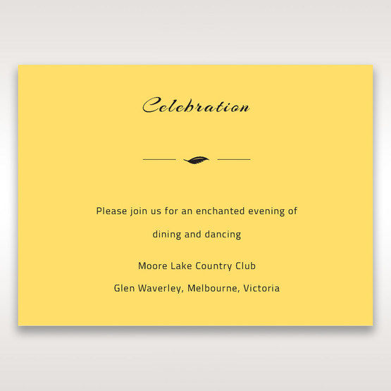 Yellow/Gold Mystic Forest Band Laser Cut - Reception Cards - Wedding Stationery - 1