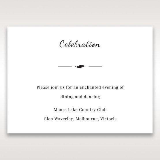White Mystic Forest Laser Cut Wrap II - Reception Cards - Wedding Stationery - 27