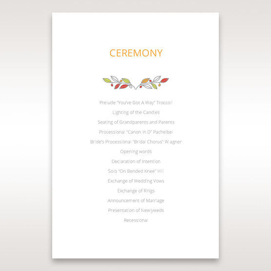 White Wild Floral Wreath - Order of Service - Wedding Stationery - 29