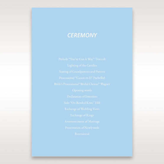 Blue Side by Side - Order of Service - Wedding Stationery - 32