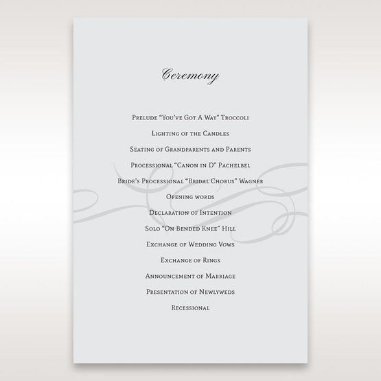 Silver/Gray Traditional Birde and Groom - Order of Service - Wedding Stationery - 40