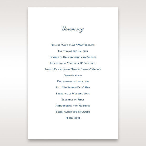 Blue Urban Chandelier - Order of Service - Wedding Stationery - 58