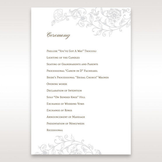 Green Romatic Couture with Pearls - Order of Service - Wedding Stationery - 65