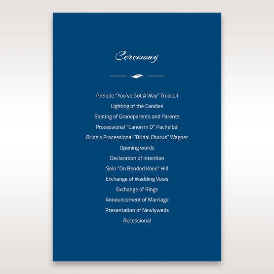 Blue Flower Sash I Laser Cut  - Order of Service - Wedding Stationery - 35