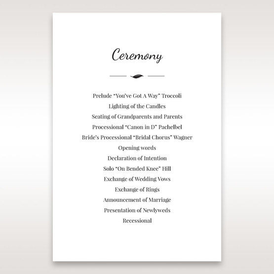 White Mystic Forest Laser Cut Wrap II - Order of Service - Wedding Stationery - 69