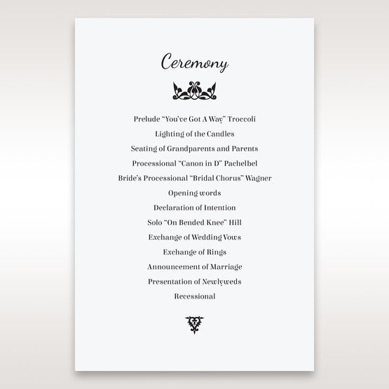 White Laser Gated Elegance Laser Cut Pocket - Order of Service - Wedding Stationery - 63