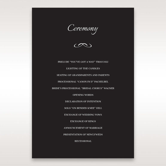Black Laser Contempo Laser Cut Pocket - Order of Service - Wedding Stationery - 78