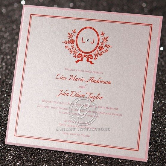 Wedding Invitations Old Fashioned: Old-fashioned Romance Personalised Wedding Invitation