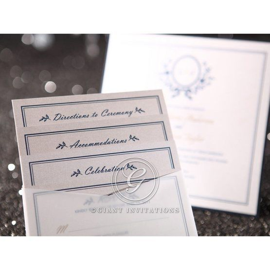 Blue Old-fashioned Romance - Anniversary Cards - 22