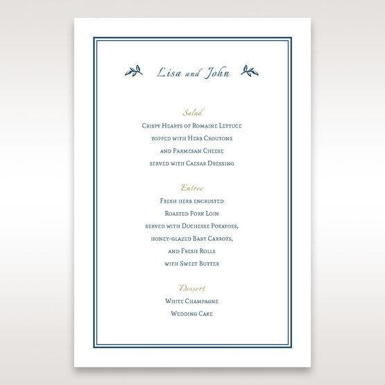 Blue Old-fashioned Romance - Menu Cards - Wedding Stationery - 35