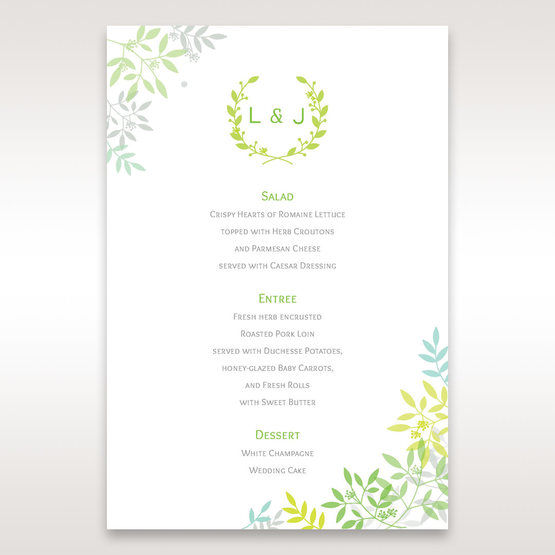 Green Natural Attraction - Menu Cards - Wedding Stationery - 49