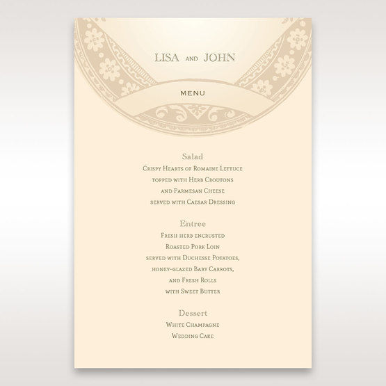 Yellow/Gold Around the Globe with Love - Menu Cards - Wedding Stationery - 88