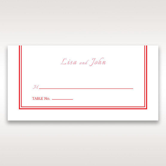 Red Old-fashioned Romance - Place Cards - Wedding Stationery - 42
