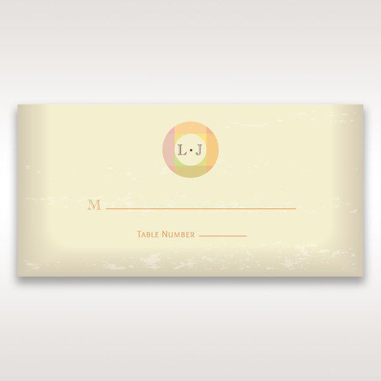 Orange Faded Modern Retro - Place Cards - Wedding Stationery - 37