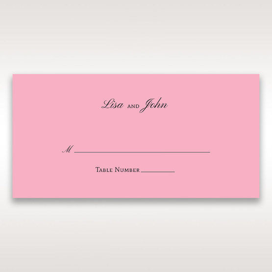 Pink Pretty in Pink Modern Couture - Place Cards - Wedding Stationery - 20