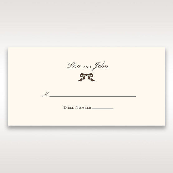 Brown Shimmering Gold Floral Chains - Place Cards - Wedding Stationery - 14