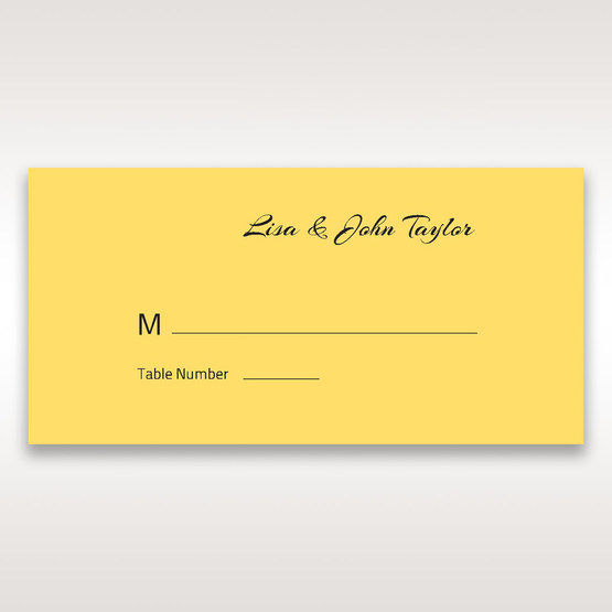 Yellow/Gold Mystic Forest Band Laser Cut - Place Cards - Wedding Stationery - 90