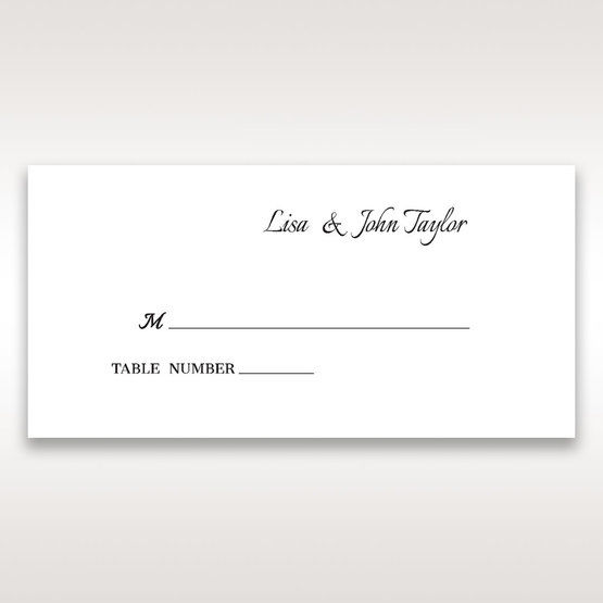 Black Laser Contempo Laser Cut Pocket - Place Cards - Wedding Stationery - 95