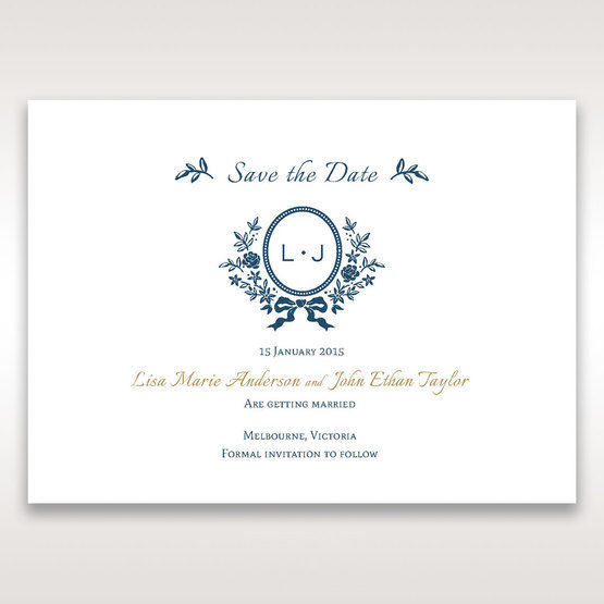 Blue Old-fashioned Romance - Save the Date - Wedding Stationery - 53