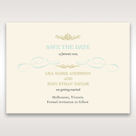 Yellow/Gold Regal Splendor - Save the Date - Wedding Stationery - 35