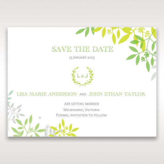 Green Natural Attraction - Save the Date - Wedding Stationery - 46