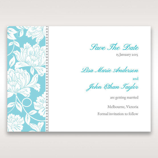 Blue Vintage Floral in Blue - Save the Date - Wedding Stationery - 78
